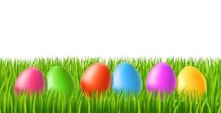 Easter eggs on green grass. Illustration of Easter eggs on green grass Royalty Free Stock Image