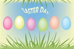 Easter Eggs and green grass. Illustration of Easter Eggs and green grass Royalty Free Stock Photography