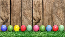 Easter eggs in green grass Royalty Free Stock Images