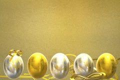 Easter background. 3D render. vector illustration