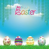 Easter eggs greeting cards Royalty Free Stock Photo