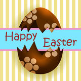 Easter Eggs Greeting Stock Photography
