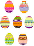 Easter eggs in a group Royalty Free Stock Photo