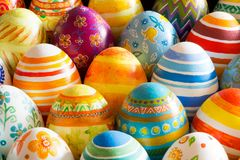 Easter eggs hand painted Royalty Free Stock Photo