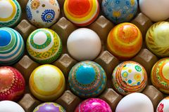 Easter eggs hand painted. Beautiful background of Easter eggs hand painted Royalty Free Stock Images
