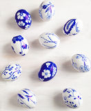 Easter eggs. Hand painted. Stock Images