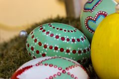 Easter eggs handpainted royalty free stock images