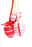 Easter eggs hanging Royalty Free Stock Photos