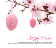 Easter eggs on the branch Royalty Free Stock Photo
