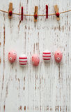 Easter eggs hanging on a line Stock Photo