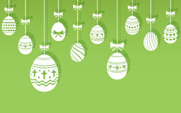 Easter eggs hanging ornaments background. Vector illustration EPS10 stock illustration