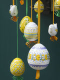Easter eggs. Hanging on the ropes Stock Image