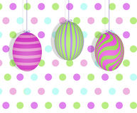 Easter Eggs Hanging in a Row Stock Image