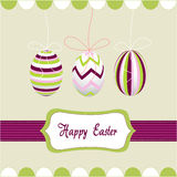 Easter eggs, happy easter. And illustration royalty free illustration