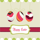Easter eggs, happy easter stock images