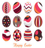 Easter eggs, happy easter. Illustration of twelve easter eggs, happy easter stock illustration