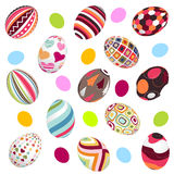 Easter eggs, happy easter stock image