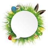 Easter Eggs Hare Ears Speech Bubble Stock Images