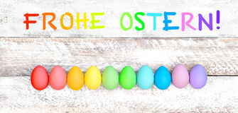Easter eggs holidays decoration german text Ostern Royalty Free Stock Images