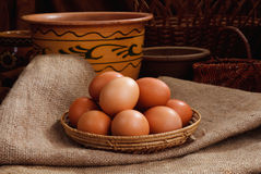 Easter eggs in home Royalty Free Stock Photos