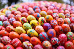 Easter eggs horisontal Royalty Free Stock Image