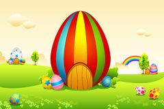 Easter Eggs House Royalty Free Stock Photos