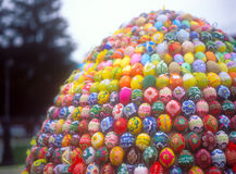 Easter eggs. Huge Easter egg made from easter eggs Royalty Free Stock Images