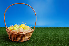 Easter eggs hunt Royalty Free Stock Image