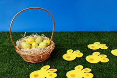 Easter eggs hunt day Royalty Free Stock Photo