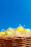 Easter eggs hunt scene Royalty Free Stock Photography