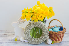Easter eggs hunt Royalty Free Stock Photography