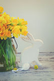 Easter eggs hunt Stock Photo