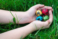 Easter Eggs Hunting Royalty Free Stock Images