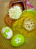 Easter eggs and hyacinth Royalty Free Stock Photo