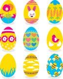 Easter eggs icon set Royalty Free Stock Photos