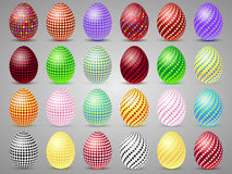Easter eggs icons with circles. Eggs for Easter holidays Stock Image