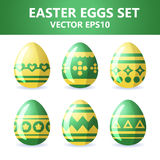 Easter eggs icons. Easter eggs for Easter holidays design on white background. Easter eggs icons. Vector illustration. Easter eggs for Easter holidays design on Royalty Free Stock Photography