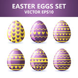 Easter eggs icons. Easter eggs for Easter holidays design on white background. Easter eggs icons. Vector illustration. Easter eggs for Easter holidays design on royalty free illustration