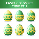 Easter eggs icons. Easter eggs for Easter holidays design on white background. Easter eggs icons. Vector illustration. Easter eggs for Easter holidays design on Stock Photography