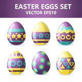 Easter eggs icons. Easter eggs for Easter holidays design on white background. Easter eggs icons. Vector illustration. Easter eggs for Easter holidays design on Royalty Free Stock Images