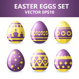 Easter eggs icons. Easter eggs for Easter holidays design on white background. Easter eggs icons. Vector illustration. Easter eggs for Easter holidays design on Stock Photos