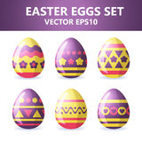 Easter eggs icons. Easter eggs for Easter holidays design on white background. Easter eggs icons. Vector illustration. Easter eggs for Easter holidays design on vector illustration