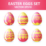 Easter eggs icons. Easter eggs for Easter holidays design on white background. Easter eggs icons. Vector illustration. Easter eggs for Easter holidays design on Stock Images