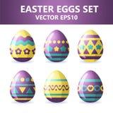 Easter eggs icons. Easter eggs for Easter holidays design on white background. Easter eggs icons. Vector illustration. Easter eggs for Easter holidays design on Stock Image