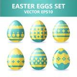 Easter eggs icons. Easter eggs for Easter holidays design on white background. Easter eggs icons. Vector illustration. Easter eggs for Easter holidays design on Stock Photo