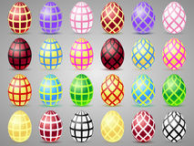 Easter eggs icons with mesh. Eggs for Easter holidays Stock Photos