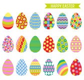 Easter eggs icons. vector illustration