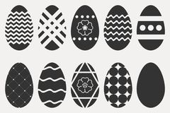 Easter eggs icons set. Collection of religious holiday attribute. Vector. Easter eggs icons set. Collection of religious holiday attribute. Vector illustration Royalty Free Stock Images