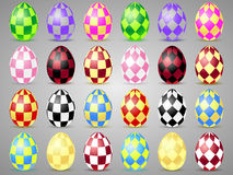 Easter eggs icons with squares. Eggs for Easter holidays Stock Photo