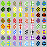 Easter eggs icons with squares Royalty Free Stock Photography